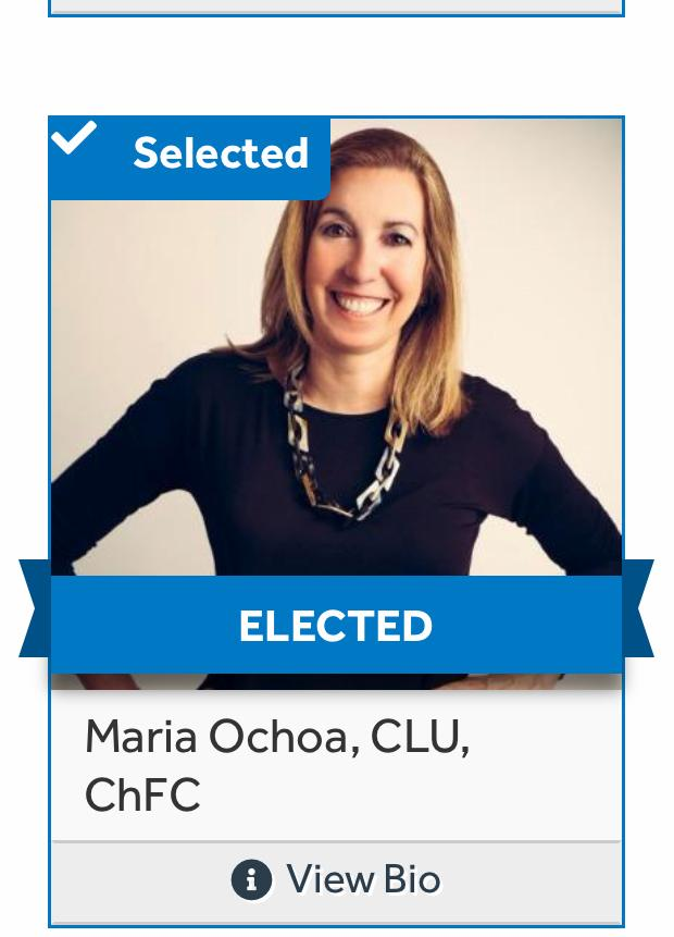 MARIA M. OCHOA  Financial Advisor